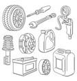 car service auto center repair vector image