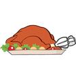 Cartoon turkey meal vector image vector image
