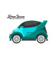 city car design blue series vector image vector image