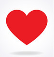 classic valentines love heart vector image vector image