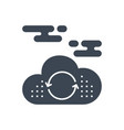 cloud computing glyph icon vector image