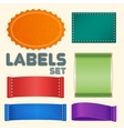 Collection of Five Colorful Blank Labels or Badges vector image