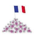 coronavirus concept heap viruses and france vector image vector image