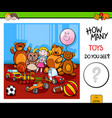 counting toys educational game for children vector image vector image