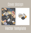 cover design with river stones pattern vector image vector image