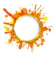 Dialog Balloons With Orange Blobs vector image vector image
