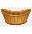 empty wicker basket for flowers large birds nest vector image vector image