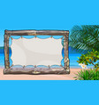 empty wooden signboard on a beautiful tropical sea vector image vector image