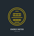 energy meter flat line icon electrical repair vector image vector image