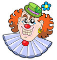 evil clowns head vector image