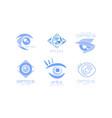 eye care optics logos collection kids clinic or vector image
