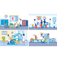 family healthcare backgrounds set with people vector image