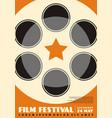 film festival modern poster design layout vector image vector image