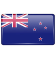 Flags New Zeland in the form of a magnet on vector image vector image