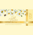Flower gift vouchers vector image