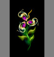 glowing modern flower pattern colorful vector image