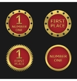 Golden badge set vector image vector image