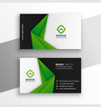 green abstract modern business card design vector image vector image