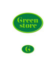 green store logo grocery store emblem vector image vector image