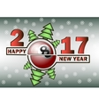 happy new year and billiard ball vector image vector image