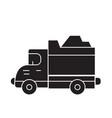 heavy truck black concept icon heavy truck vector image vector image