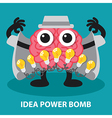 IDEA POWER BOMB vector image