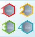 infographic template four steps or workflow vector image vector image