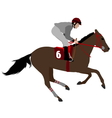 jockey riding race horse 4 vector image vector image
