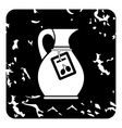 Jug with olive oil icon grunge style vector image vector image