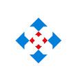letter x arrow concept logo icon vector image vector image