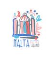 malta island logo template original design exotic vector image vector image
