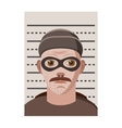 Man arrested photo in police icon cartoon style vector image