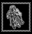 motorcycle racing hand drawing vector image vector image