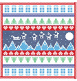 Mountains Christmas tile vector image