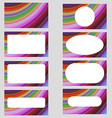 Multicolored curved design business card set vector image vector image