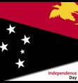 papua new guinea independence day vector image