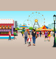 people going to amusement park vector image vector image