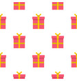 pink gift box with pattern seamless vector image vector image