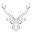 Polygonal Deer head Creative art icon stylized vector image vector image