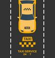 poster taxi service taxi car flat vector image vector image
