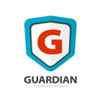 protection shield safety logotype or secure vector image