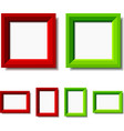 red and green photo frames vector image vector image
