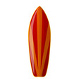 red surfboard icon cartoon style vector image