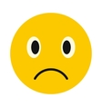 Sad face icon flat style vector image vector image
