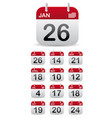 set calendar stand up vector image vector image