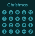 Set of Christmas simple icons vector image