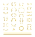 set of gold elements vector image vector image
