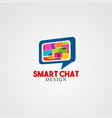 smart chat logo icon element and template for vector image vector image
