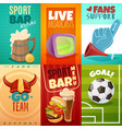 sport bar cards banners set vector image