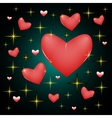 Star heart vector image vector image